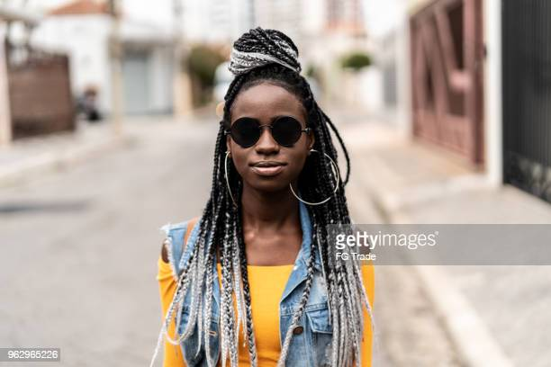 African Fashionable Woman Portrait at Street