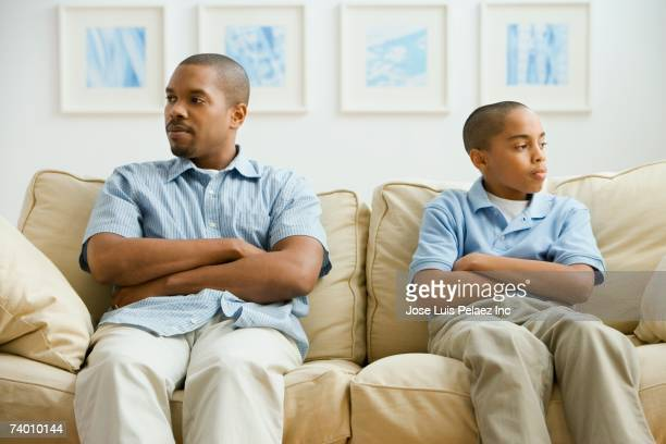 African father and son arguing