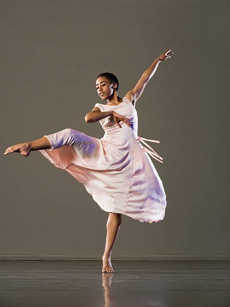 African female ballet dancer dancing