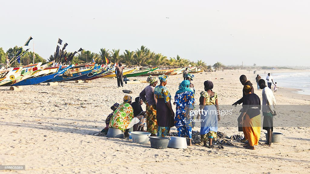 African fishing action. : Stock Photo