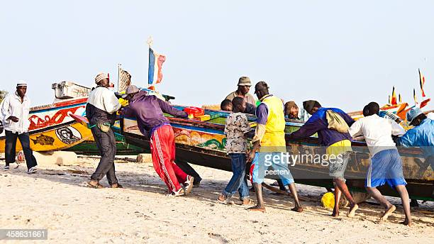 African fishing action.