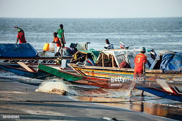 African fishing boats. The Gambia.