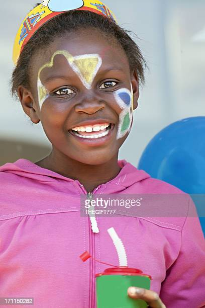 African girl at a Birthday Party