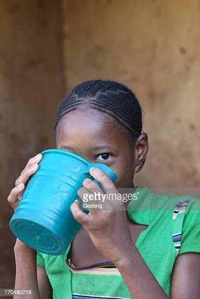 African girl in her house in Bamako Bamako Mali