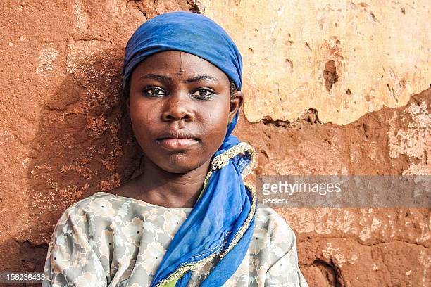 african girl portrait. - nigerian girls stock photos and pictures