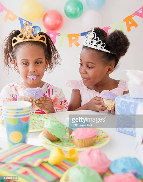 african girls at birthday party - happy birthday images for sister stock pictures, royalty-free photos & images