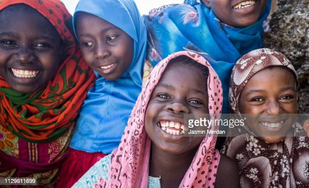 african girls group portrait - developing countries stock pictures, royalty-free photos & images