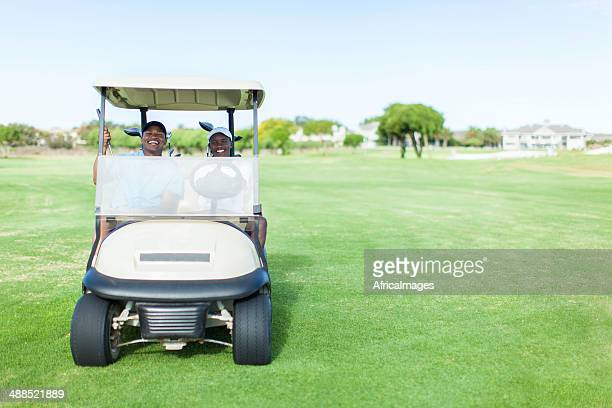African golfers driving to their next location