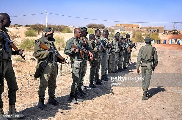 African group of rebel soldiers