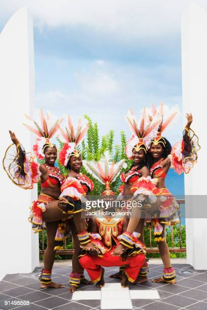african group wearing traditional clothing - tobago stock pictures, royalty-free photos & images