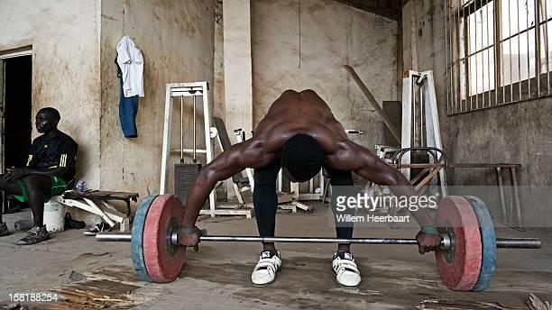 African Gym in Benin City, Edo-State, Nigeria. Stadium and Gymnasium