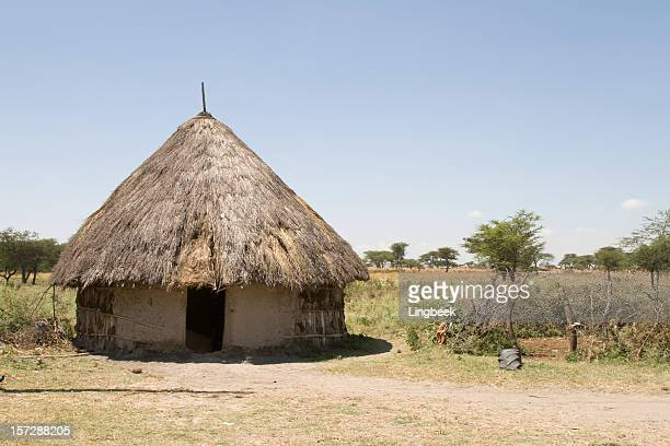 african hut in ethiopia - shack stock pictures, royalty-free photos & images