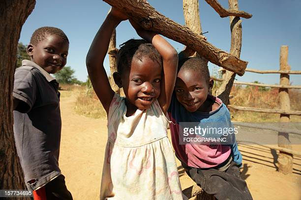 African kids in the bush