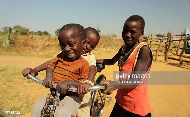 african kids in the bush - zambia stock pictures, royalty-free photos & images