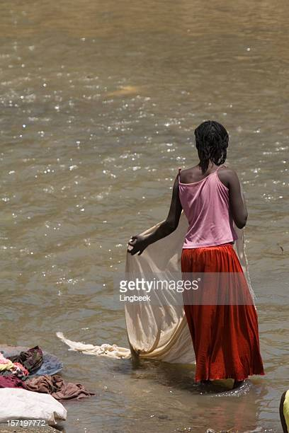 African life and laundry at the river