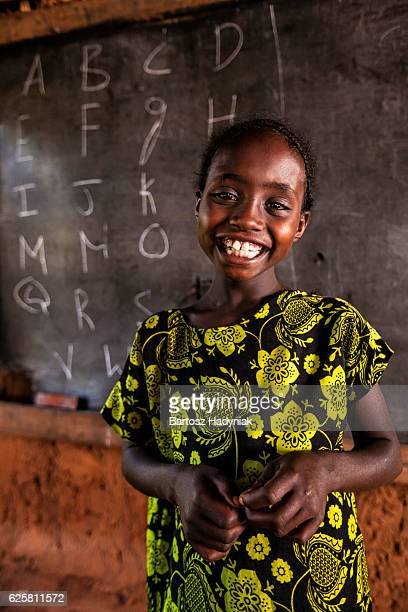 African little girl during english class, southern Ethiopia, East Africa