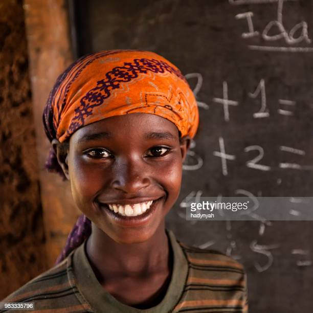 Afrikanische Mädchen während der Math-Klasse, Südäthiopien, Ostafrika