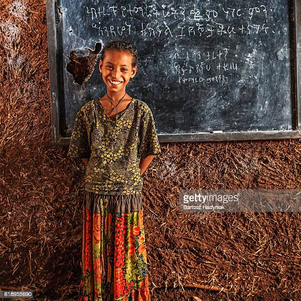 african little girl is learning amharic language - beautiful ethiopian girls stock photos and pictures