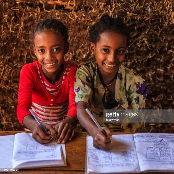 African little girls during the class, East Africa