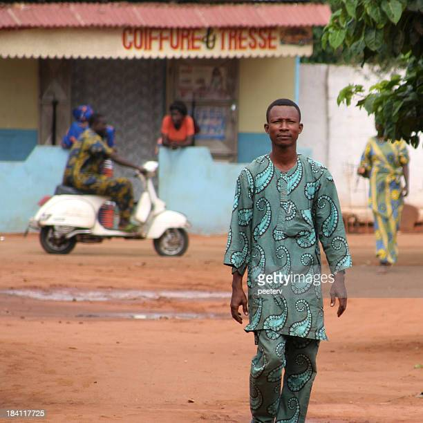 african man at home street