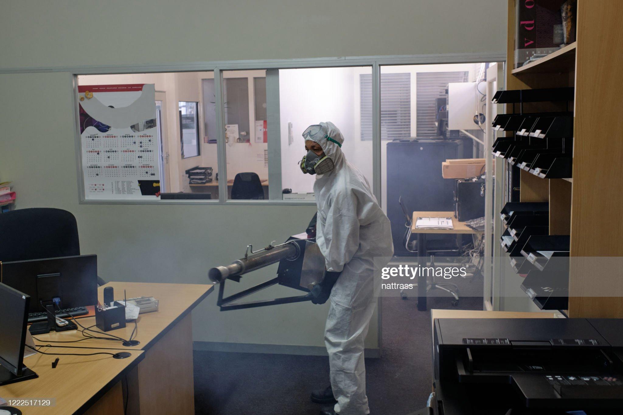 fogging kantor disinfeksi