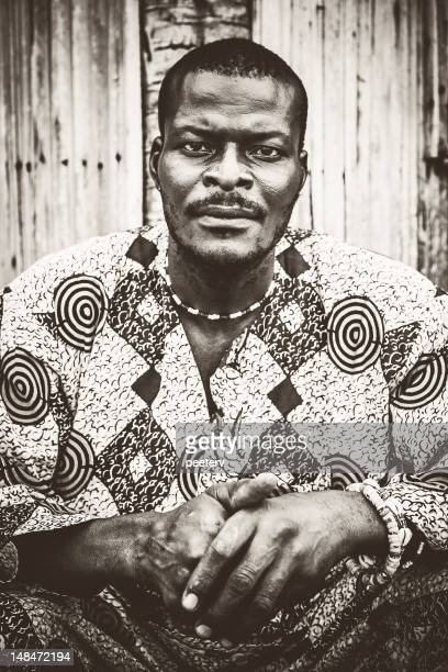 african man portrait. - nigerian men stock photos and pictures