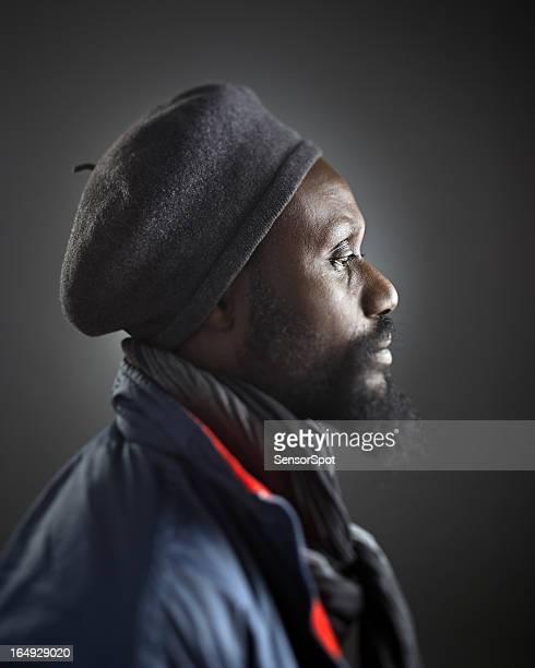 African man profile