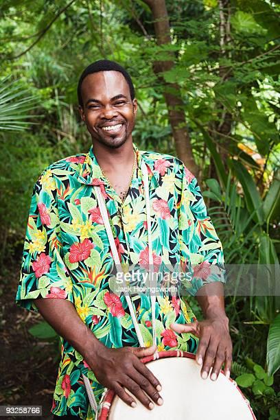 African man smiling