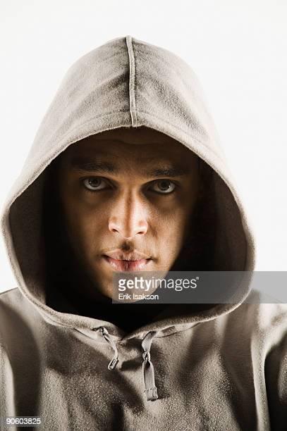 African man wearing hoody