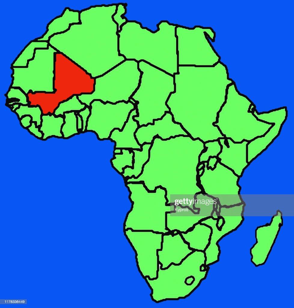 African Map Mali High-Res Stock Photo - Getty Images on mali geography, mali flag, mali political, mali on a map, mali europe map, mali's map, burkina faso, mali map area, sierra leone, mali movement, bamako mali map, mali economic, mali gold, mali resource map, rwanda map, mali food, zimbabwe map, mali ebola, mali france map, mali currency, mali continent map, mali map in color,
