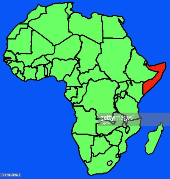 african map - somalia - horn of africa ストックフォトと画像