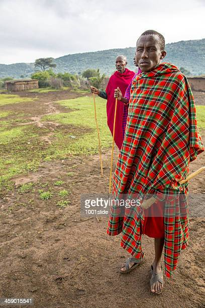 african masai people are posing - eastern african tribal culture stock photos and pictures