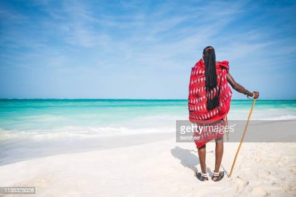african masai warrior - zanzibar stock pictures, royalty-free photos & images
