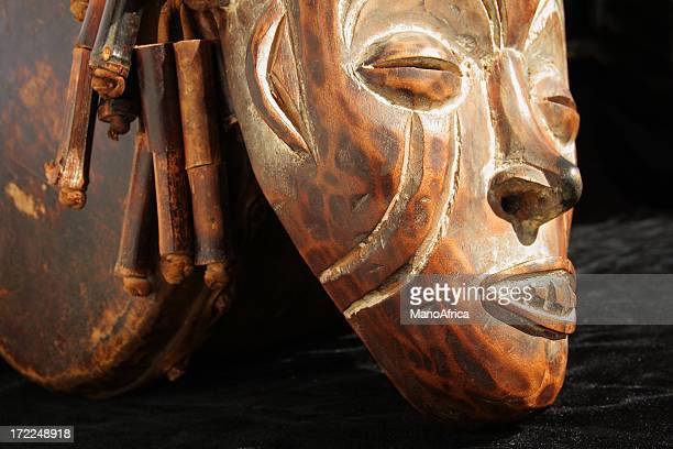 African Mask and Drum