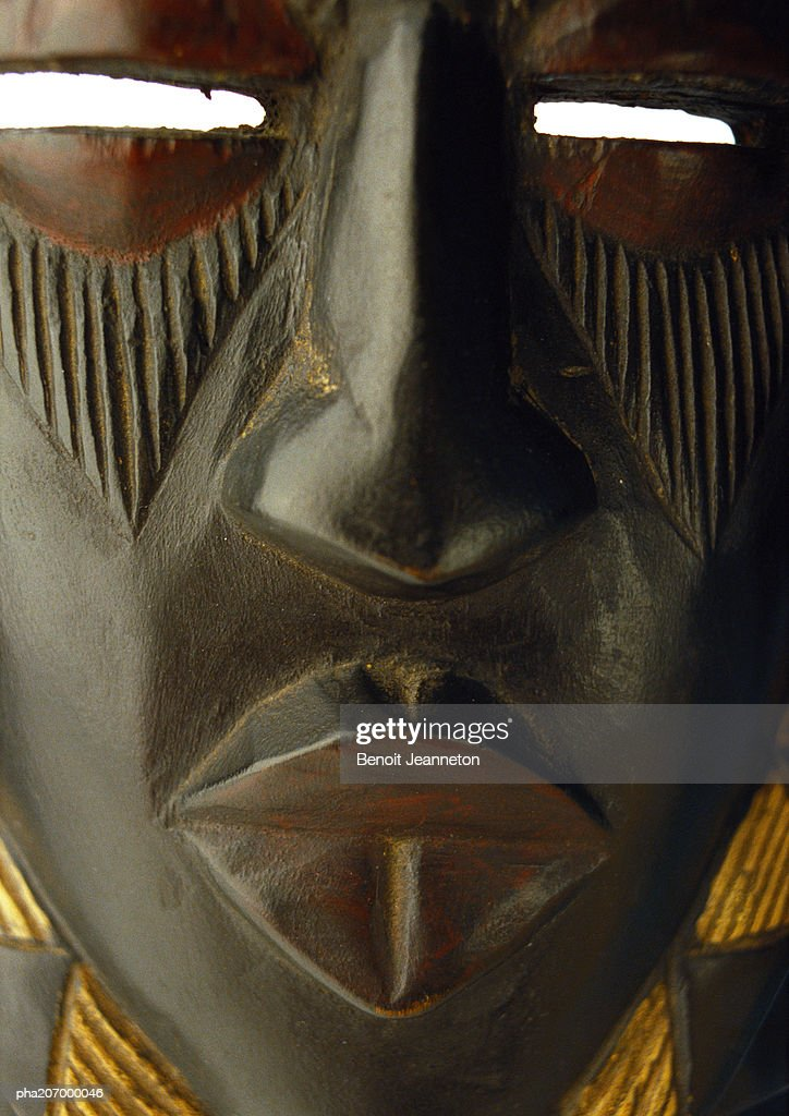 African mask, close-up. : Stockfoto