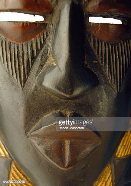 African mask, close-up.