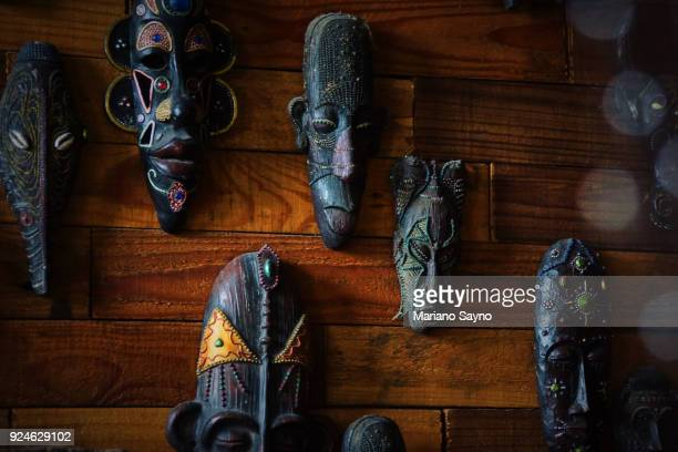 african mask - old manila stock pictures, royalty-free photos & images