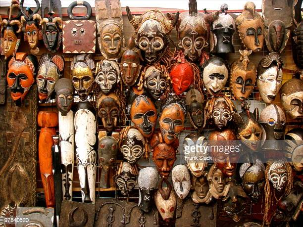 african masks - cape town stock pictures, royalty-free photos & images