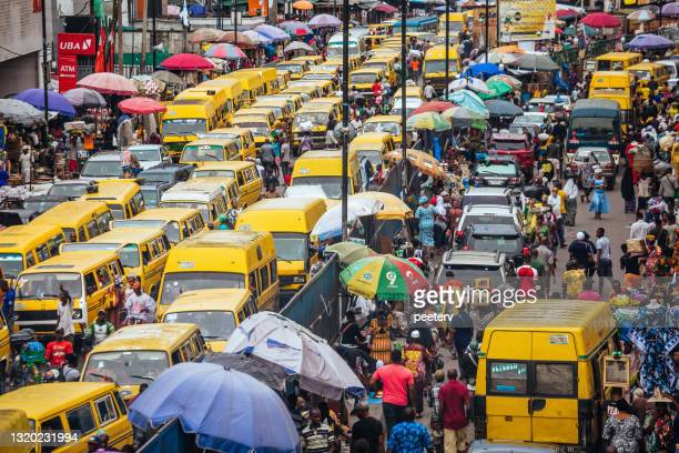 african megacity - lagos, nigeria - nigeria stock pictures, royalty-free photos & images