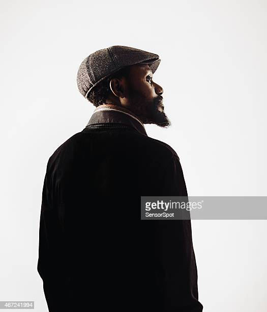 African mid age man portrait with beard.