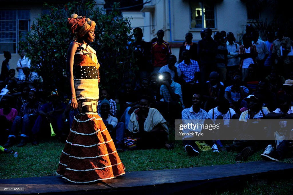 African Models Presenting Newest Fashion Designs In Kampala Uganda High Res Stock Photo Getty Images