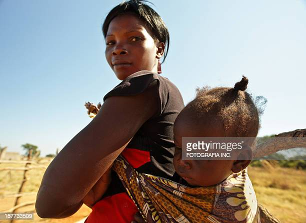 african mother and child - zambia stock pictures, royalty-free photos & images