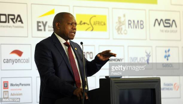 African National Congress TreasuryGeneral Dr Zweli Mkhize during the Joburg Indaba event at the Inanda Club on October 04 2017 in Johannesburg South...
