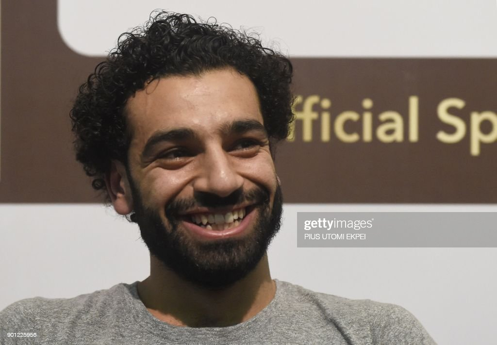 African Player of the Year Award nominee and Liverpool's Egyptian striker Mohamed Salah attends a media briefing on the Confederation of African Football (CAF) awards ceremony at the International Conference Centre in Accra, on January 4, 2018. Liverpool star Mohamed Salah hopes to add the African Player of the Year award in Ghana on January 4 to his rapidly expanding collection of individual honours. The Egyptian, scorer of 23 goals in all competitions midway through his first season at Anfield, has been voted BBC African Footballer of the Year and Arab Player of the Year. EKPEI