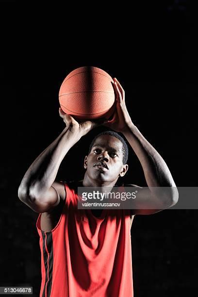 Jeter afro-Joueur de basket-ball
