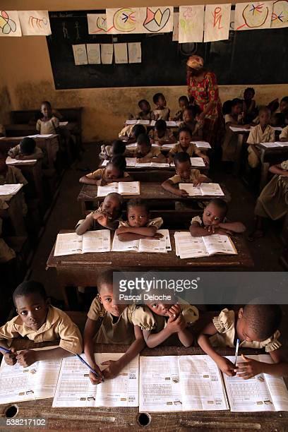 African primary school. Classroom.