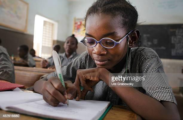 African pupils in a class on April 25 in Fada N'gourma Burkina Faso