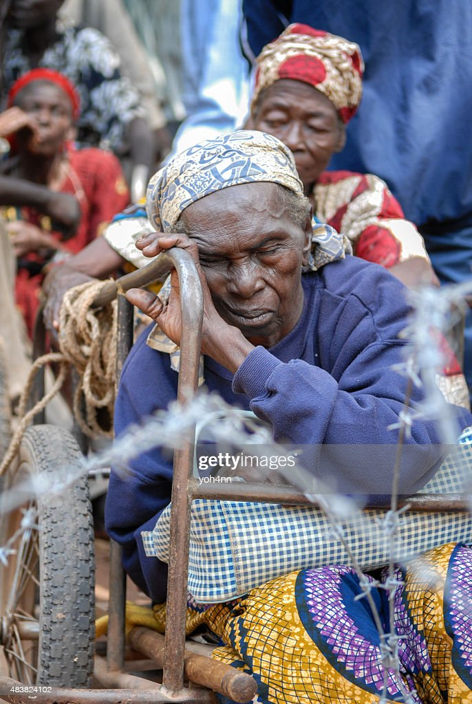 African refugee : Stock Photo