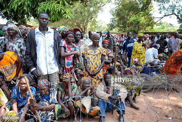 african refugees - refugee camp stock pictures, royalty-free photos & images