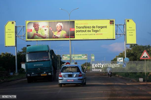 African road Money transfer signs Togo